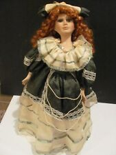 Beautiful Porcelain Collectible Doll Gorgeous Red Head W/ Stand