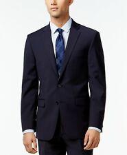 Calvin Klein Mens Infinite Stretch Slim-Fit Suit Jacket Blazer Blue 40S NEW $485