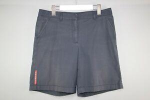 PRADA RED TAB Womens Vintag Bermuda Pantaloni Used Navy Shorts size 44/M