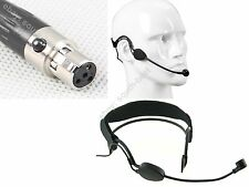 Pro Headset Headworn Head-mounted Microphone For Shure Wireless - Mini XLR Ta4f