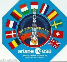 Autocollant sticker Fusée Ariane Espace aéronautique ESA Agence Spaciale Space