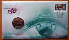 150TH MELBOURNE CUP LIMITED EDITION GOLD STAMPED STAMP & COIN 2010 PNC COVER