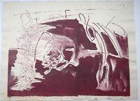 Helge LEIBERG Dresden 1954 Farb-Lithographie Drei Figuren 1980 handsigniert
