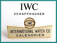 """IWC - RARE VINTAGE 1960's IWC Enameled Window Shop Display SIGN: """"Calendrier"""""""