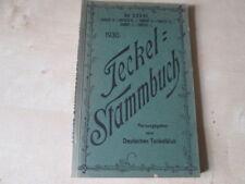 Teckel Stammbuch Band 41, 1930. Deutscher Teckelklub e.V., Berlin, Eigenverlag.