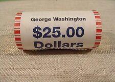 Original Bank Roll Uncirculated Roll - 25 Presidential $ Coins George Washington