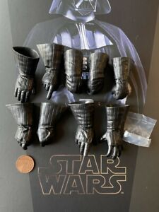 Hot Toys Star Wars Darth Vader 40th MMS572 Gloved Hands x 9 loose 1/6th scale