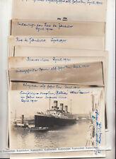 13 große Reise Fotos 1914 Hamburg Amerika Linie Äquatortaufe Rio de Janeiro !