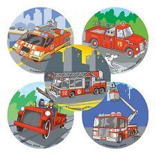 20 Firetruck Fireman STICKERS Party Favor Teacher Supplies Treat Bag