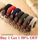 Elastic Fabric Braided Belt, Enduring Stretch Woven Belt For Women Girl