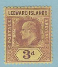 LEEWARD ISLANDS 34  MINT HINGED OG * NO FAULTS EXTRA FINE !