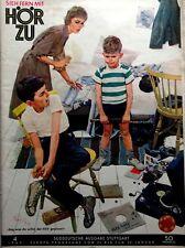 HÖRZU  Heft 4_1960, Titel-Zeichnung von Kurt Ard, Fernsehprogramm, Mecki-Seite