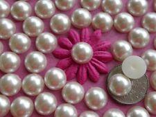"""100! belle crème moitié pearl flatback embellissements - 10mm / 0,4 """""""