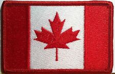 CANADA  Flag  Embroidered Iron-On Patch  Canadian Military  Emblem Red Border