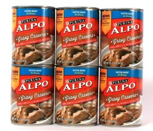 6 Cans Purina Alpo 13.2 Oz Gravy Cravers With Beef In Gravy Dog Food Exp 12/21
