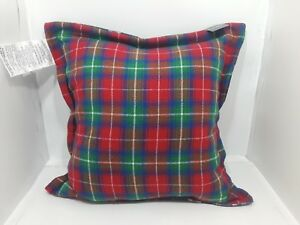 Lauren Ralph Lauren Plaid Cotton  Decorative Throw Pillow, 22 x 22 inches NWT