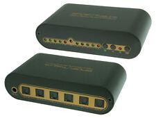Premium 4x2 SPDIF Toslink Matrix Audio Switch/Splitter + 4x 1m Toslink