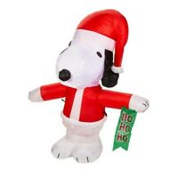 Snoopy Christmas Blow Up Airblown Inflatable Outdoor Yard Decorations 3.5 ft NEW