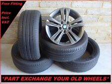 "2548 Genuine 17"" BMW 392 3 Series F30 4 Series Alloy Wheels And Michelin Tyres"