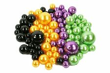 HALLOWEEN SET of Vase Fillers 84 Assorted Faux Pearl Beads Centerpiece Decor