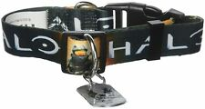 """HALO """"MASTER CHIEF"""" Dog collar Large 15""""-22"""" Neck NEW WITH TAG"""