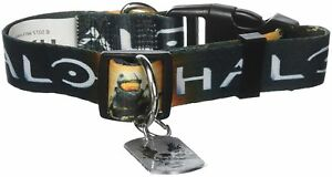 """HALO """"MASTER CHIEF"""" Dog collar XLarge 21""""-34"""" Neck NEW WITH TAG"""