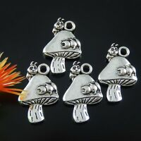 20x Vintage Silver Caterpillar on Mushroom Alloy  Pendants Charms Findings 51844