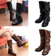 Wedge Unbranded 100% Leather Upper Boots for Women