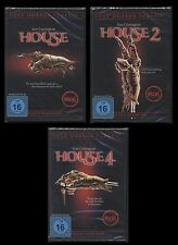 DVD HOUSE 1 + 2 + 4 - HORROR-SAMMLUNG - 3 DISC SET - SEAN CUNNINGHAM ** NEU **