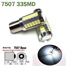 2pcs White Rear Turn Signal Light BAU15S 7507 PY21W 33 SMD LED Bulb A1 LAX