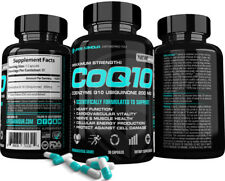 CoQ10 Best Coenzyme Q10 Ubiquinone Heart Antioxidants Anti-Aging Softgels 200mg