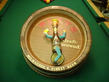 Blatz Beer Spinning Unicycle Barrel Man Light 1950s 60s