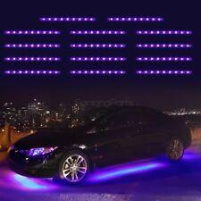 14pcs Purple 3528SMD Under Car Glow Underbody Undercar Led Strip Lighting Kit