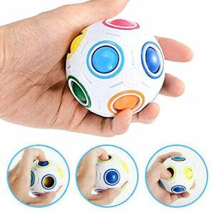 Fidget Ball Rainbow Magic Puzzle Rubiks Cube Toy Autism Brain Stress Relief Toy
