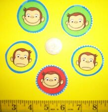 New! Cool! Curious George IRON-ONS FABRIC APPLIQUES IRON-ONS