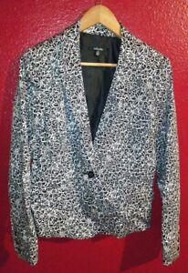 Rafaella Women's Black Button Jacket Blazer Size 12