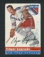 1954-55 Topps #56 Edgar Laprade VG/VGEX NY Rangers 108217