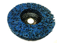 5 x 100mm POLY STRIP DISC BLUE WHEEL CAR PAINT RUST REMOVAL CLEAN ANGLE GRINDER