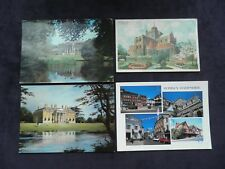 4 Postcards Romsey, Hampshire, Romsey Abbey, Broadlands home of Lord Mountbatten