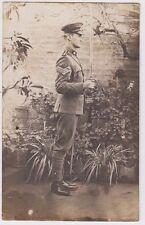 WW1 ANZAC real photo postcard Australian soldier with sword, unused
