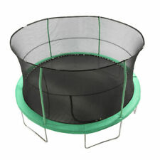 Jumpking 14ft Padded Enclosed Round Trampoline with G3 Poles, Green - JK1418C2