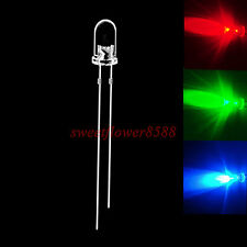 100pcs 5mm RGB Slow Flash Rainbow MultiColor Red Green Blue LED Free Shipping