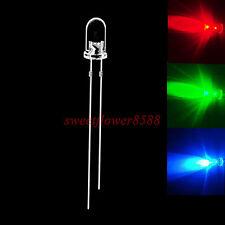 100pcs 5mm RGB Slow Flash Rainbow MultiColor Red Green Blue LED Free Shipping