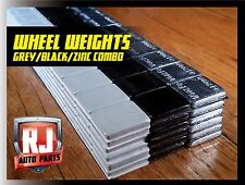1 Box Wheel Weights Grey, Black, Zinc 1/4 oz. Stick On Adhesive Tape 9 LB 576 PC
