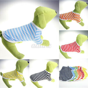 Various Puppy Small Cat Dog Pet Vest T Shirt Stripe Apparel Clothes Summer