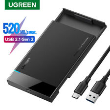"Ugreen USB C 3.1 Hard Drive Enclosure Type C to SATA External 2.5"" HDD Case UASP"