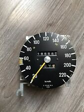 Mercedes W123 Instrument Cluster Speedometer Speed Gauge 220 KM/h 280E 186680 KM