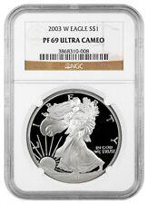 2003-W 1 Oz Proof American Silver Eagle NGC PF69 UC SKU16430