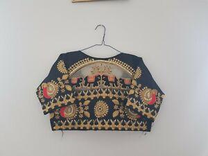 Indian Ready Made Stitched Sari Blouse Diwali Wedding Party Wear Choli Crop Top