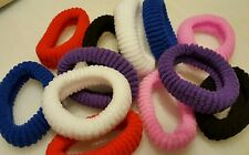 12 count Girls Elastic Hair Ties  Ponytail Holder Scrunchie assorted colors